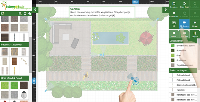 Zelf tuin ontwerpen ontwerp je eigen tuin online for Tuin tekenen app